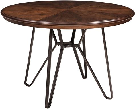 Two Toned Dining Table Centiar Two Tone Brown Dining Table D372 15