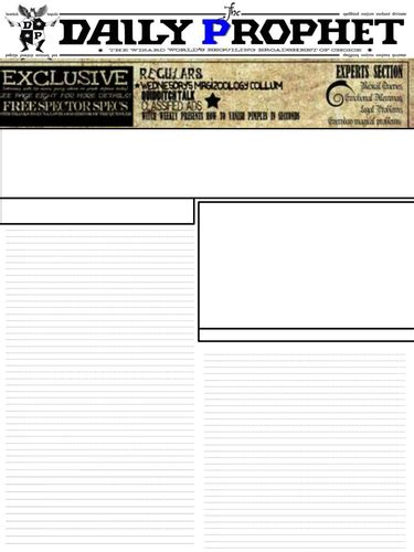 powerpoint layout zeitung harry potter daily prophet newspaper template by dordafaye