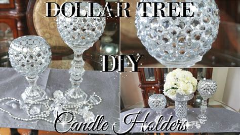Pictures Of Christmas Decorating Ideas For The Home by Diy Dollar Tree Bling Candle Holders 2017 Petalisbless
