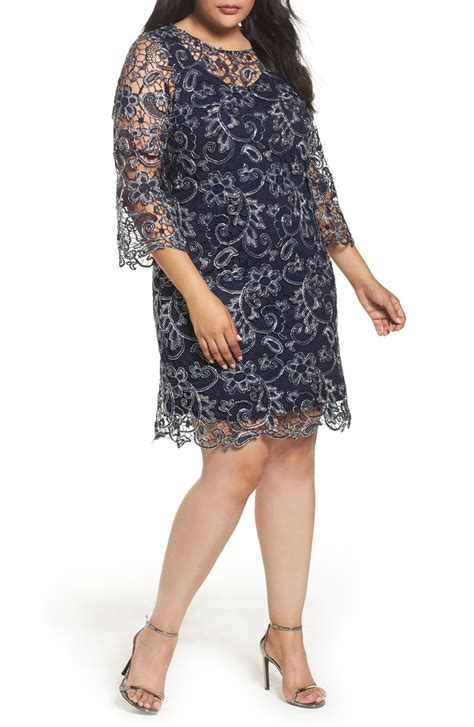 Gp Bellsleeve Dress Series 2 marina bell sleeve lace shift dress plus size nordstrom