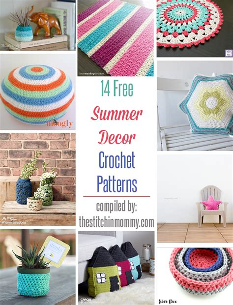 14 free summer decor crochet patterns the stitchin