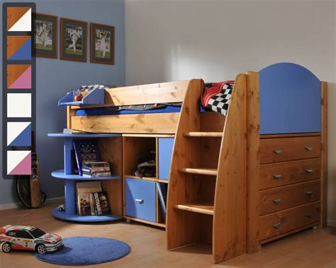Mid Sleeper Beds With Desk by Stompa Rondo 2 Mid Sleeper Bed With Desk And Storage The