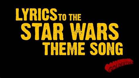 theme songs youtube goldentusk s star wars theme song lyrics youtube