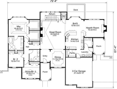 atrium ranch floor plans 3 bedroom 2 bath ranch house plan alp 09k6 chatham