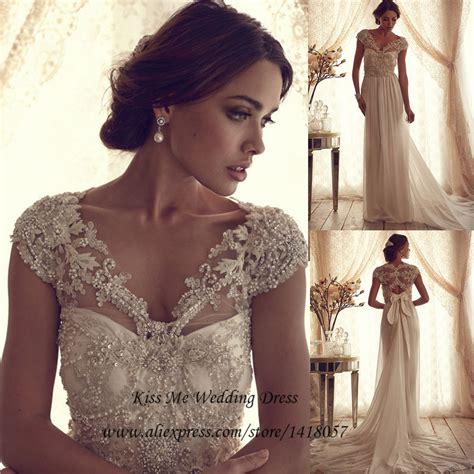 vintage beaded wedding dress aliexpress buy vintage lace wedding dress 2015