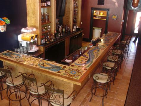bar countertop ideas custom hand glazed tile bartop products i love pinterest glazed tiles bar and basements