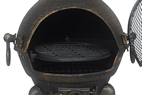 Cast Iron Steel Chiminea Foxhunter Gold Cast Iron Steel Chimenea Chiminea Chimnea