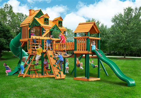 gorilla wooden swing sets gorilla malibu treasure trove i playset new 2016 free shipping