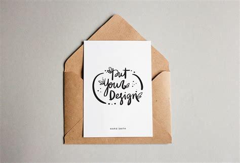 template mockup card set invitation free postcard with envelope mockups mockupworld