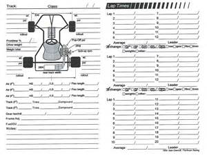 race car setup sheet template kart chassis setup pictures to pin on pinsdaddy
