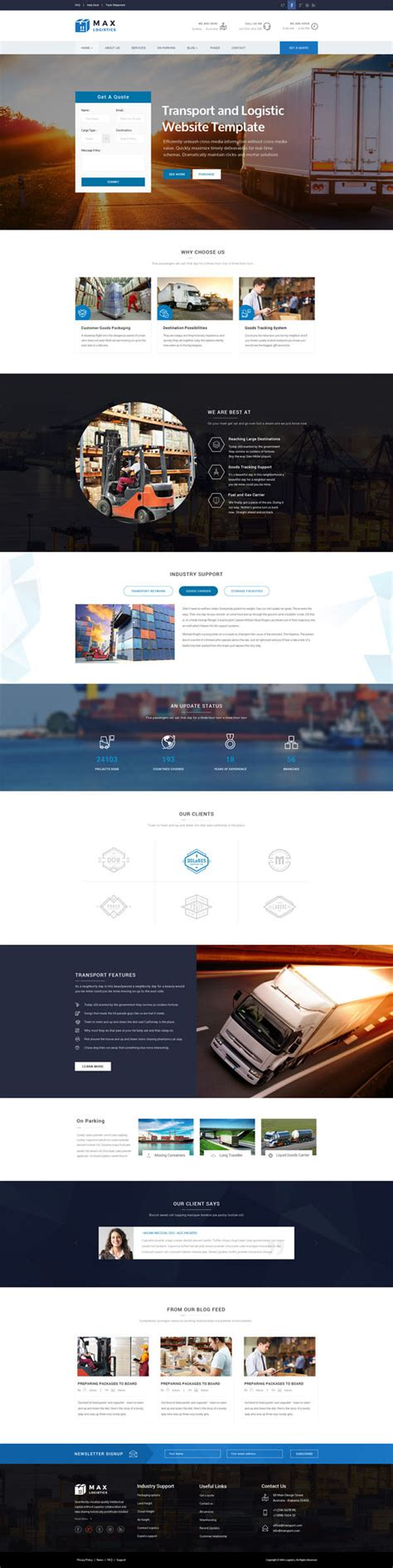 Responsive Html5 Web Templates Design Design Graphic Design Junction Logistics Website Template