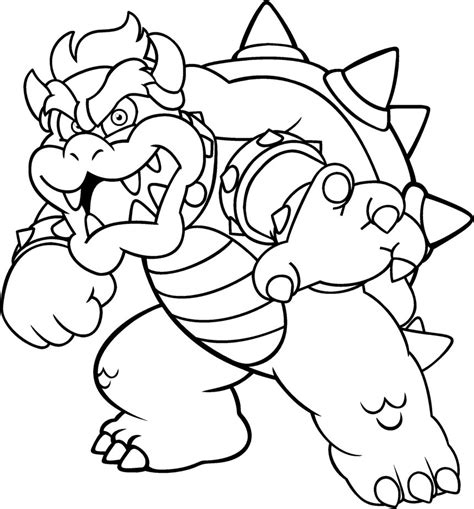 bowser coloring by blistinaorgin on deviantart