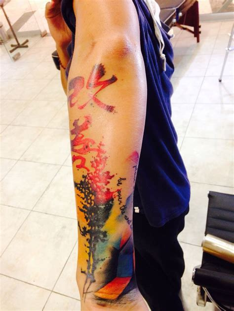 watercolor tattoo la watercolor tatuajes puebla vander