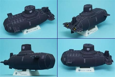 Submarine Papercraft - neko typhoon submarine papercraft papercraft paradise