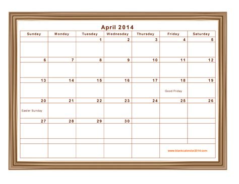 calendar 2014 template printable 8 best images of daily calendar 2014 printable free
