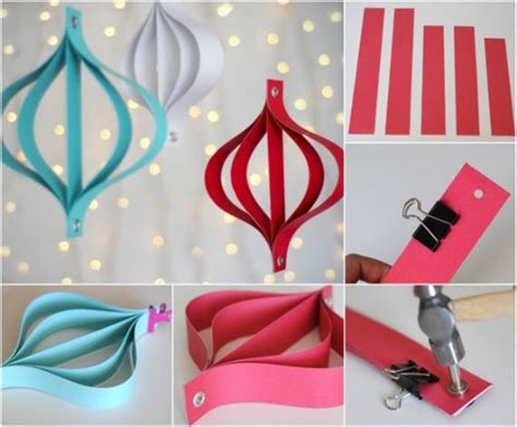 How To Make Decorations Out Of Paper - diy ornaments made from paper