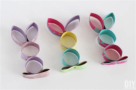 Paper Roll Arts And Crafts - toilet paper roll easter bunny craft