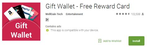 Gift Wallet Free Reward Card - 5 best lucktastic android app from android jv