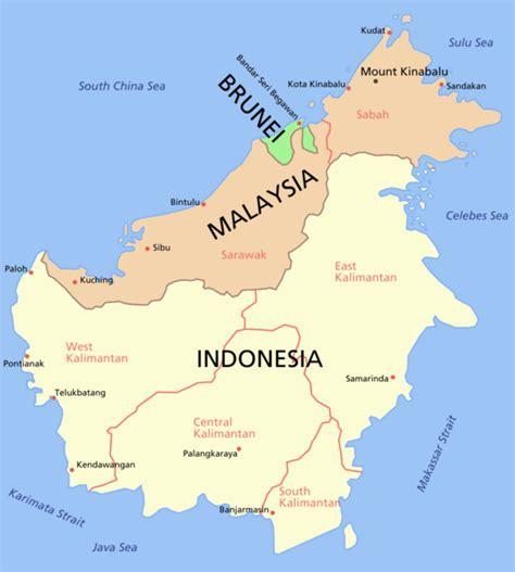 Borneo Kalimantan borneo island view world