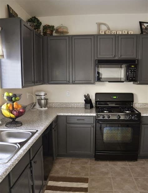 Grey Kitchen Cabinets With Black Appliances Black Appliances And White Or Gray Cabinets How To Make It Work A Well Grey Cabinets And