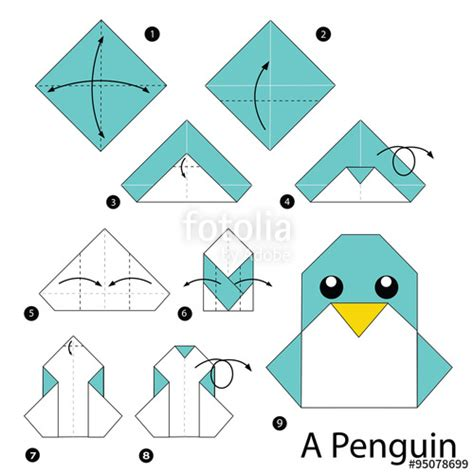 Origami Penguin Folding - quot step by step how to make origami penguin