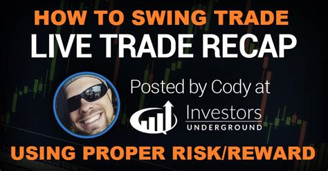 how to swing trade for a living how to swing trade using proper risk vs reward live trade