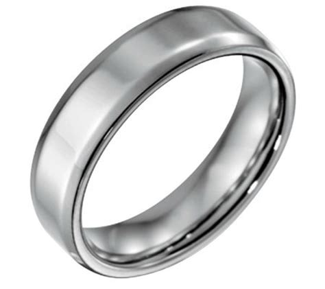 qvc mens wedding bands forza s 6mm steel w beveled edgepolished ring qvc