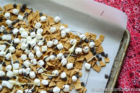 simple s more snack mix a few shortcuts