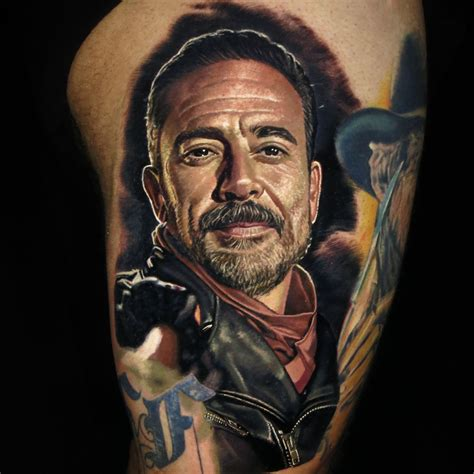 nikko hurtado tattoo negan by nikko hurtado