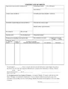 blank certificate of origin template blank certificate of origin form 6 free certificate of