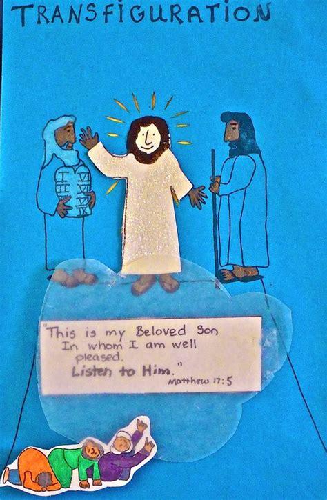 sunday school craft projects 48 best transfiguration images on lent sunday