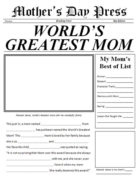 themes for a newspaper nie blog mother s day themes in the newspaper