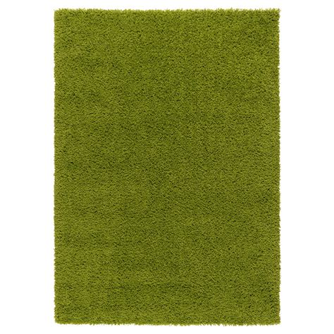 Hampen Rug High Pile Bright Green 133x195 Cm Ikea Green Rug