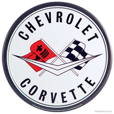 vintage corvette logo corvettes chevy and flags on