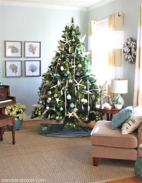 coastal xmas decor home tours home tour sand and sisal