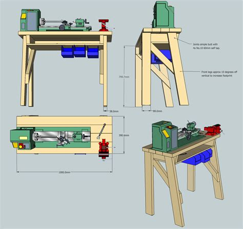 wood lathe bench plans pdf metal lathe stand plans plans diy free plans for