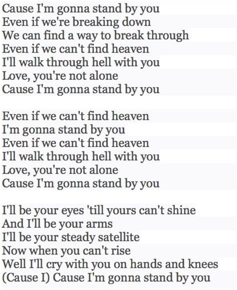 country music lyrics i will stand by you rachel platten walks and songs on pinterest