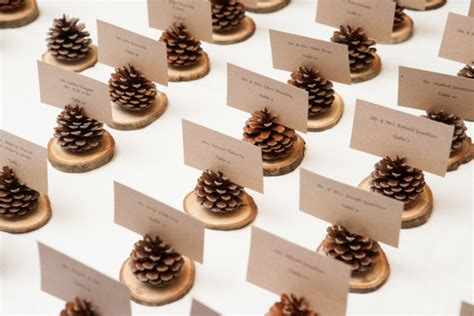 6 pc pine cone place card holder set items similar to pinecone place card holder wedding