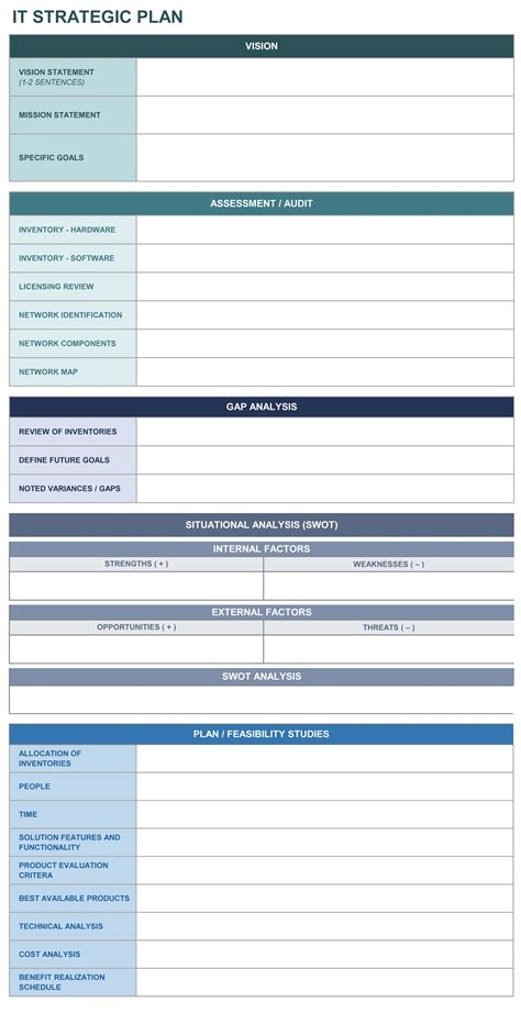 Strategic Plan Template Tryprodermagenix Org Free Strategic Plan Template