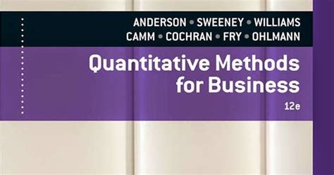 Quantitative Methods In Business Notes For Mba Pdf by Bba And Mba Books Free Quantitative Methods For