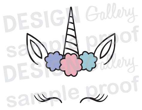 printable unicorn eyes template unicorn face jpg png svg dxf cut file printable