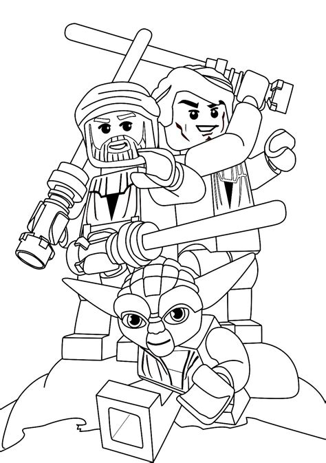 Lego Star Wars Coloring Pages | Star Wars. Yoda is the