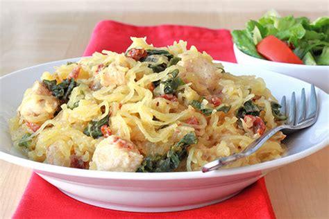 creamy kale spaghetti squash hungry girl