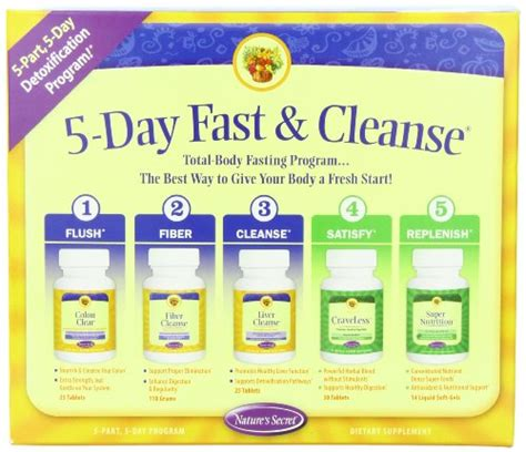 One Day Detox Kit by Review Nature S Secret 5 Day Fast And Cleanse Kit On Sale