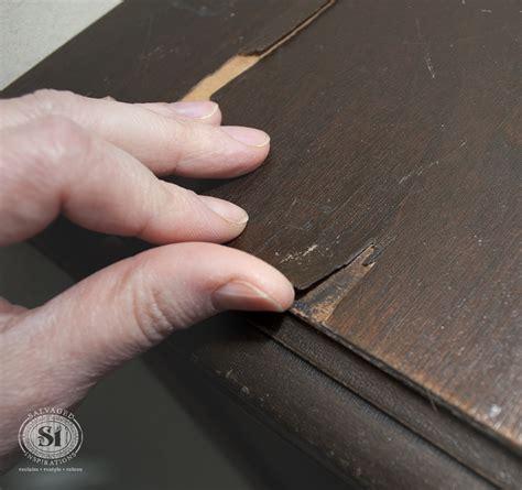 repair veneer table top how to fix peeling or chipped veneer