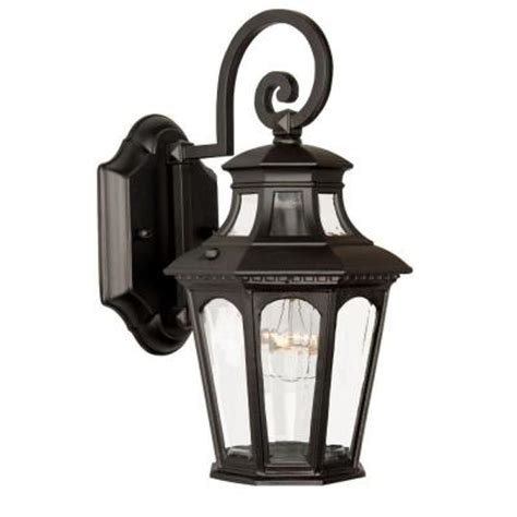 Discontinued Light Fixtures Acclaim Lighting Newcastle Collection Wall Mount 1 Light Outdoor Matte Black Light Fixture