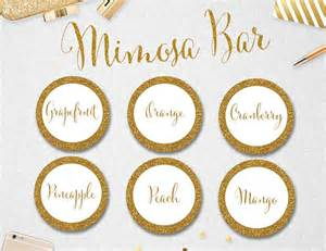 9 best images of printable labels for mimosa mimosa
