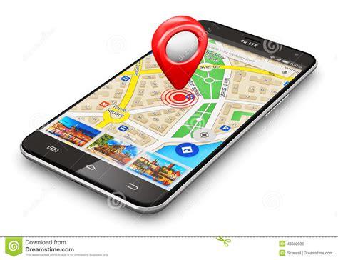 Gps Mobile Phone Gps Navigation Concept Stock Illustration Illustration Of