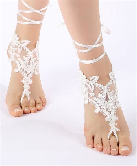 Lace Sandals Wedding by Free Ship Wedding Barefoot Sandals Shoes