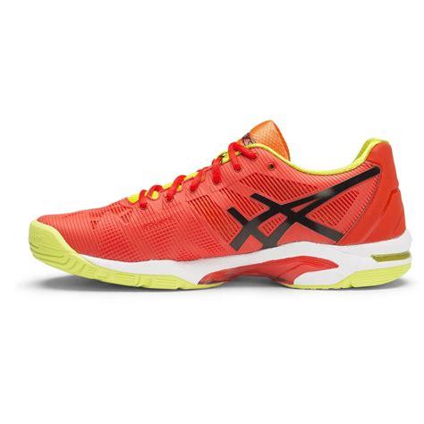 asics gel solution speed 3 mens tennis shoes orange
